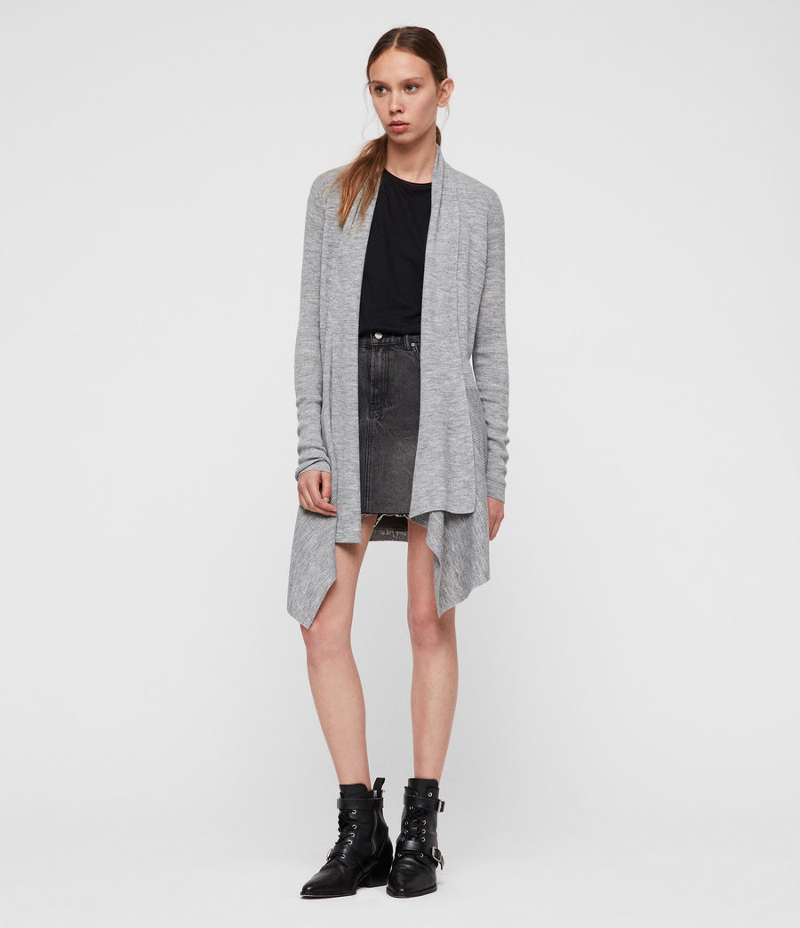 Womens Keld Olivo Cardigan (pale_grey) - Image 4