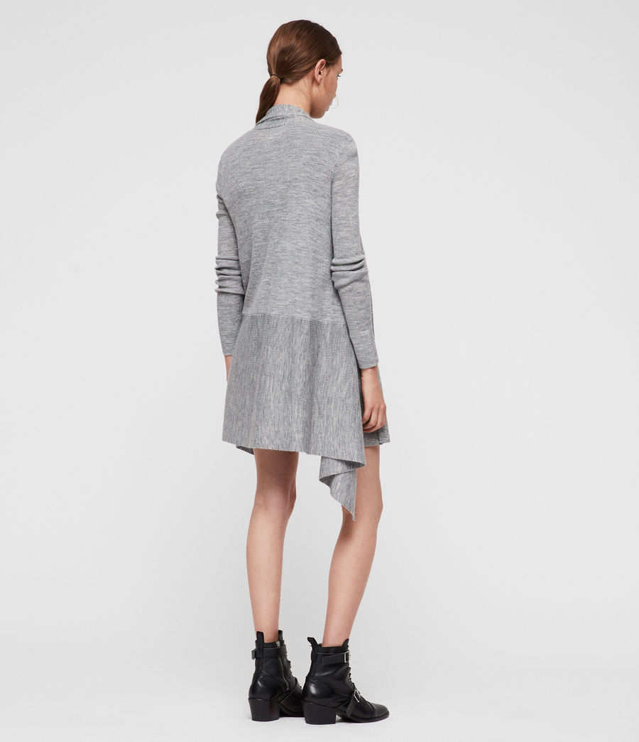 Womens Keld Olivo Cardigan (pale_grey) - Image 5