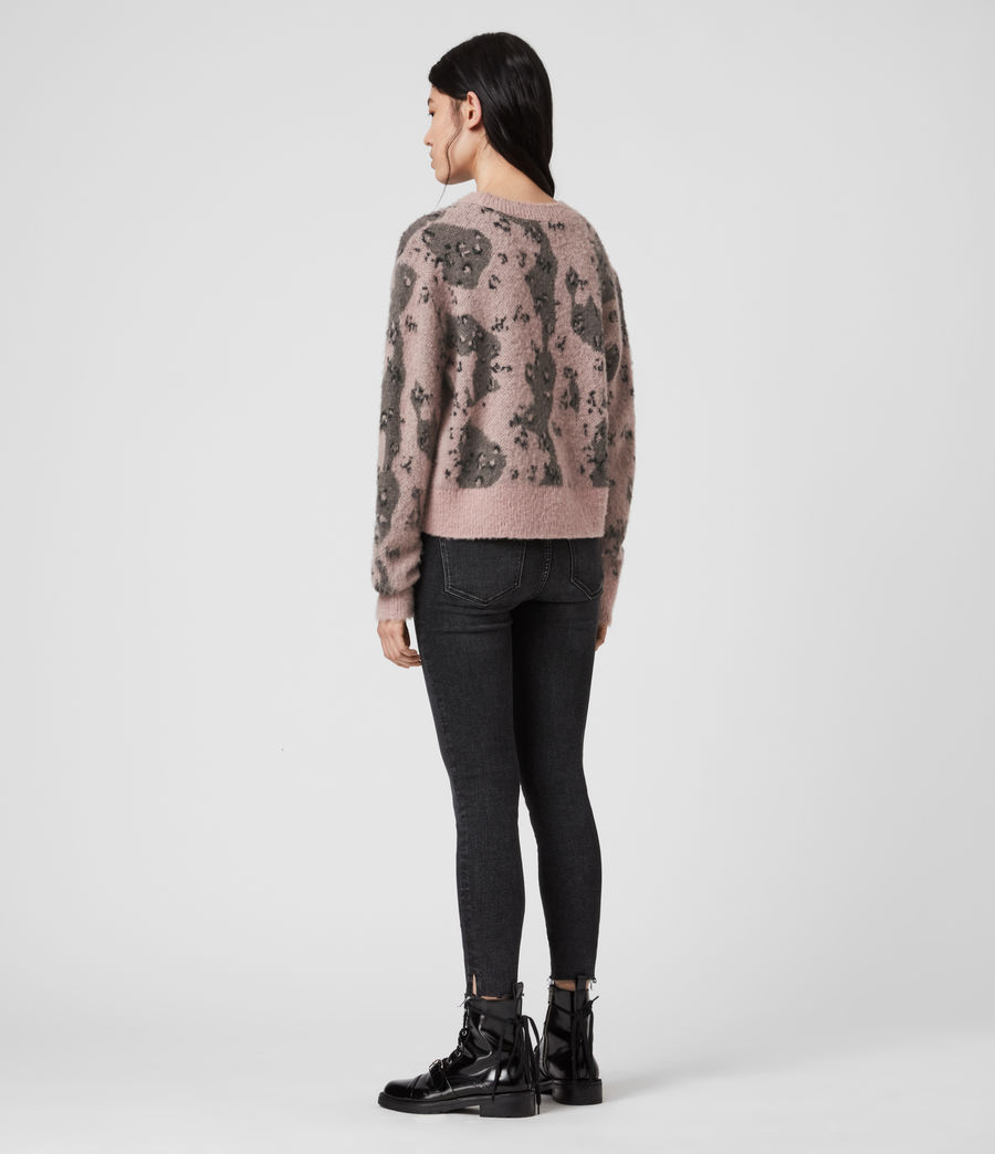 Womens Asko Camo Sweater (putty_olive_green) - Image 5