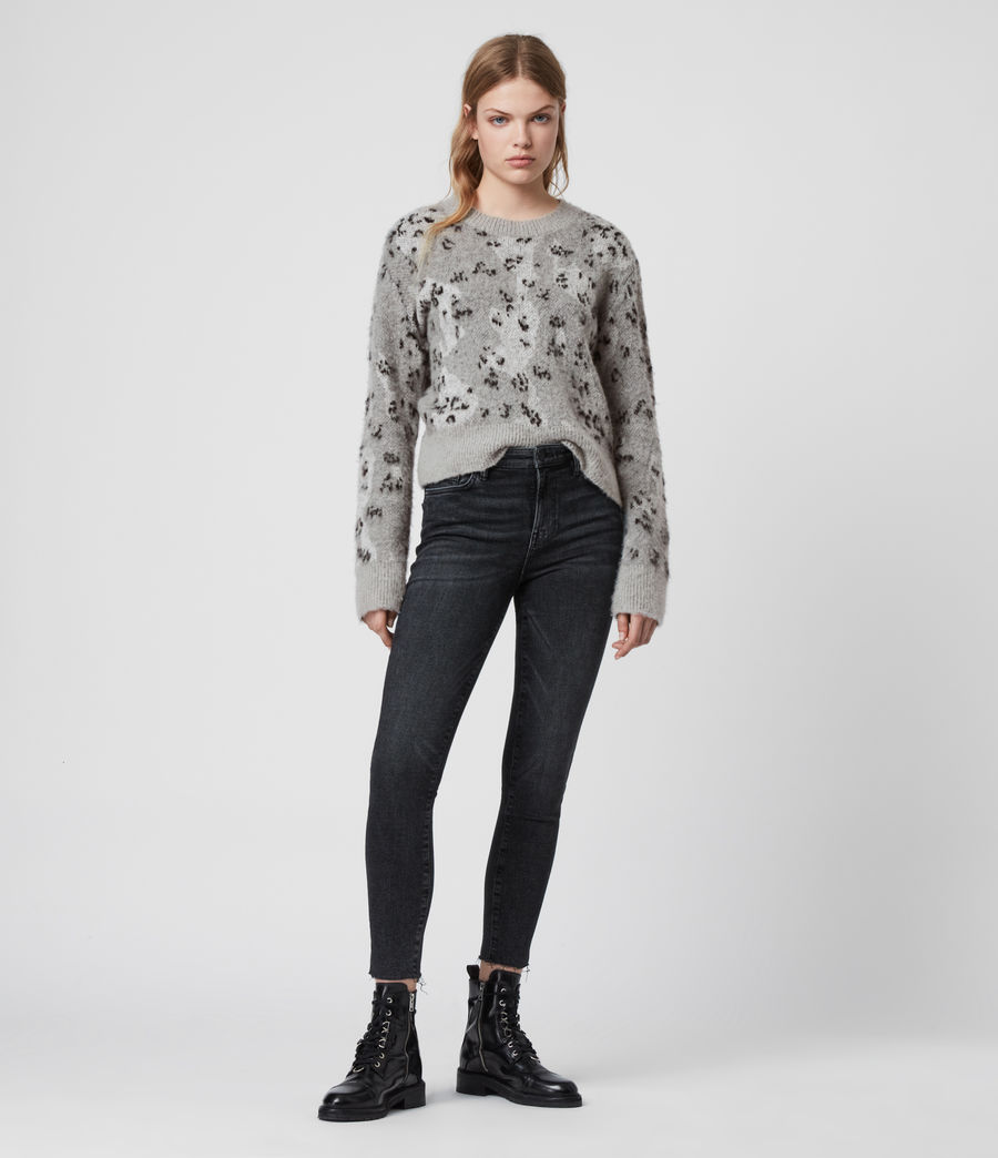 Womens Asko Camo Sweater (pale_grey_ecru) - Image 2
