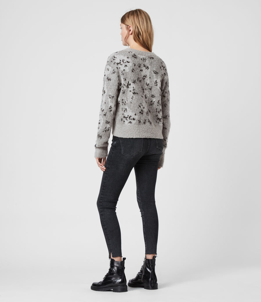 Womens Asko Camo Sweater (pale_grey_ecru) - Image 4