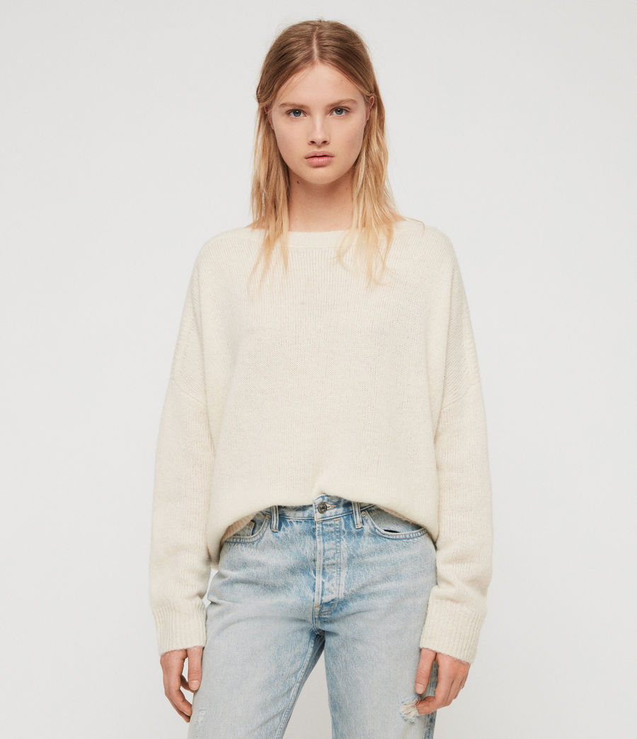 Womens Aris Sweater (chalk_white) - Image 2