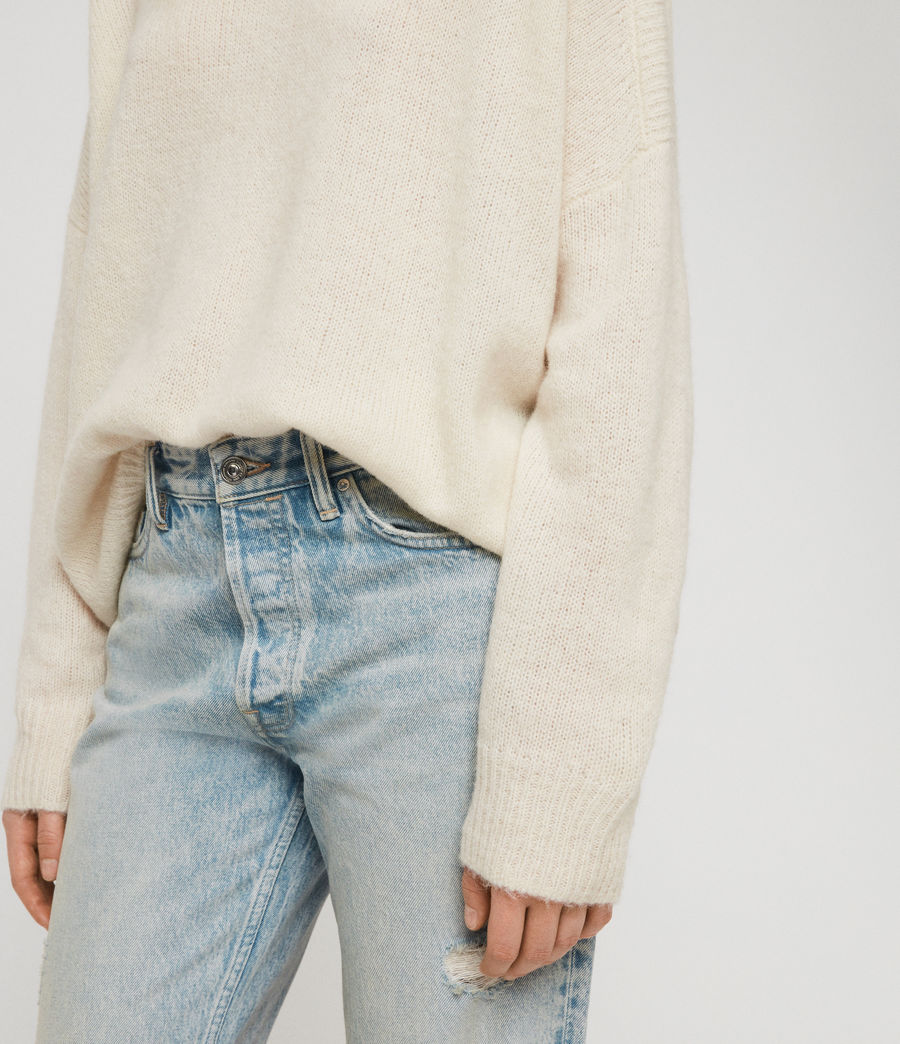 Womens Aris Sweater (chalk_white) - Image 4