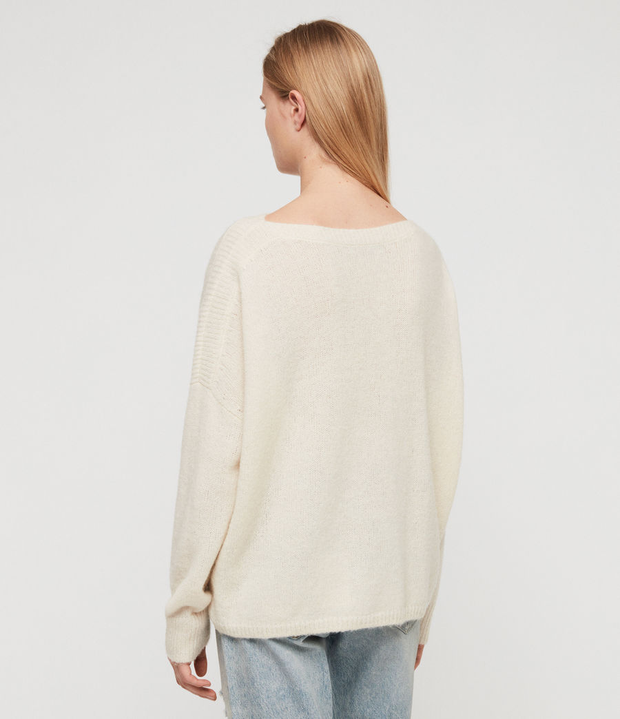 Womens Aris Sweater (chalk_white) - Image 5
