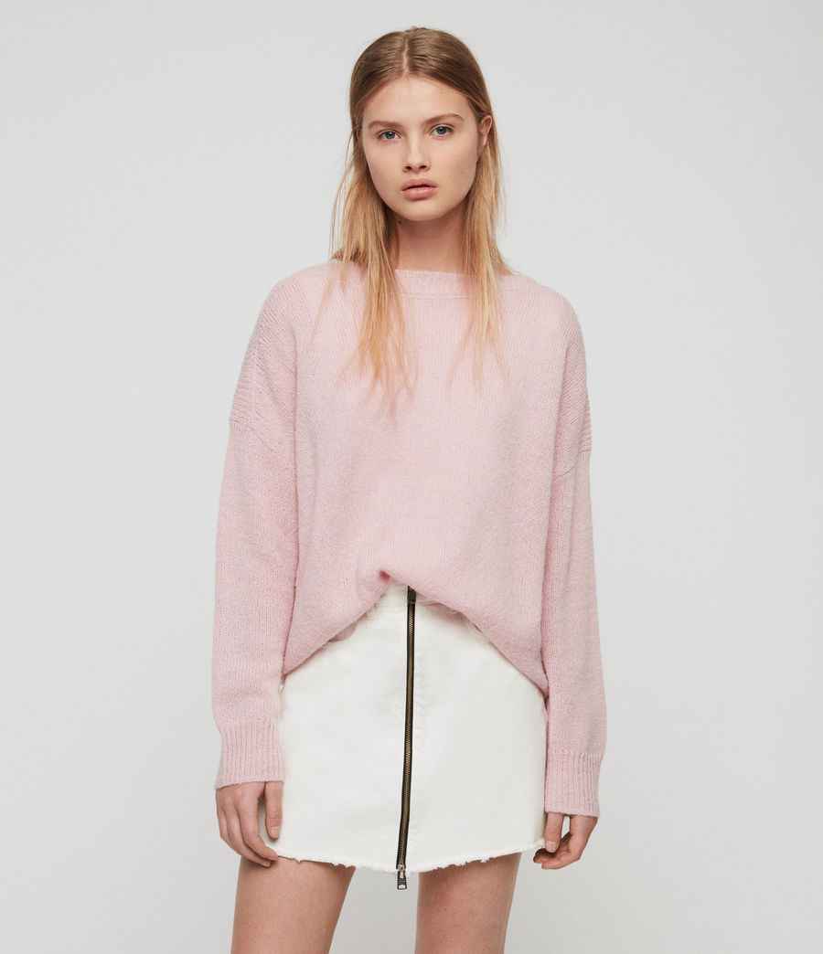 Womens Aris Sweater (baby_pink) - Image 1