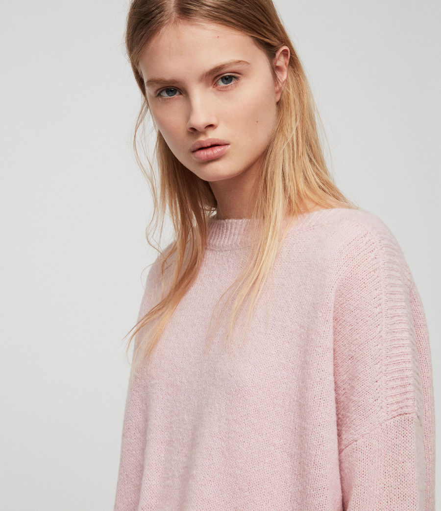 Womens Aris Sweater (baby_pink) - Image 2