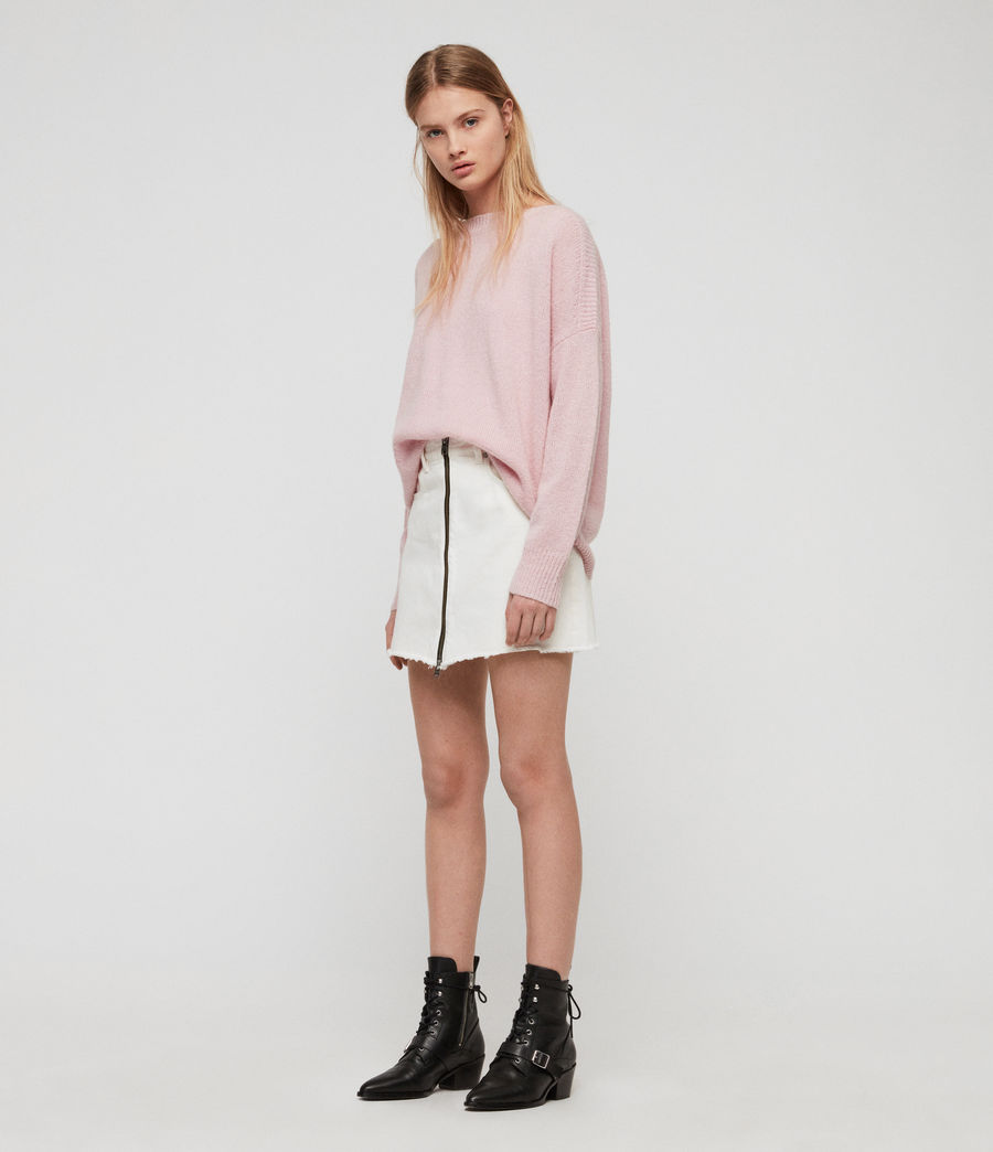 Womens Aris Sweater (baby_pink) - Image 3