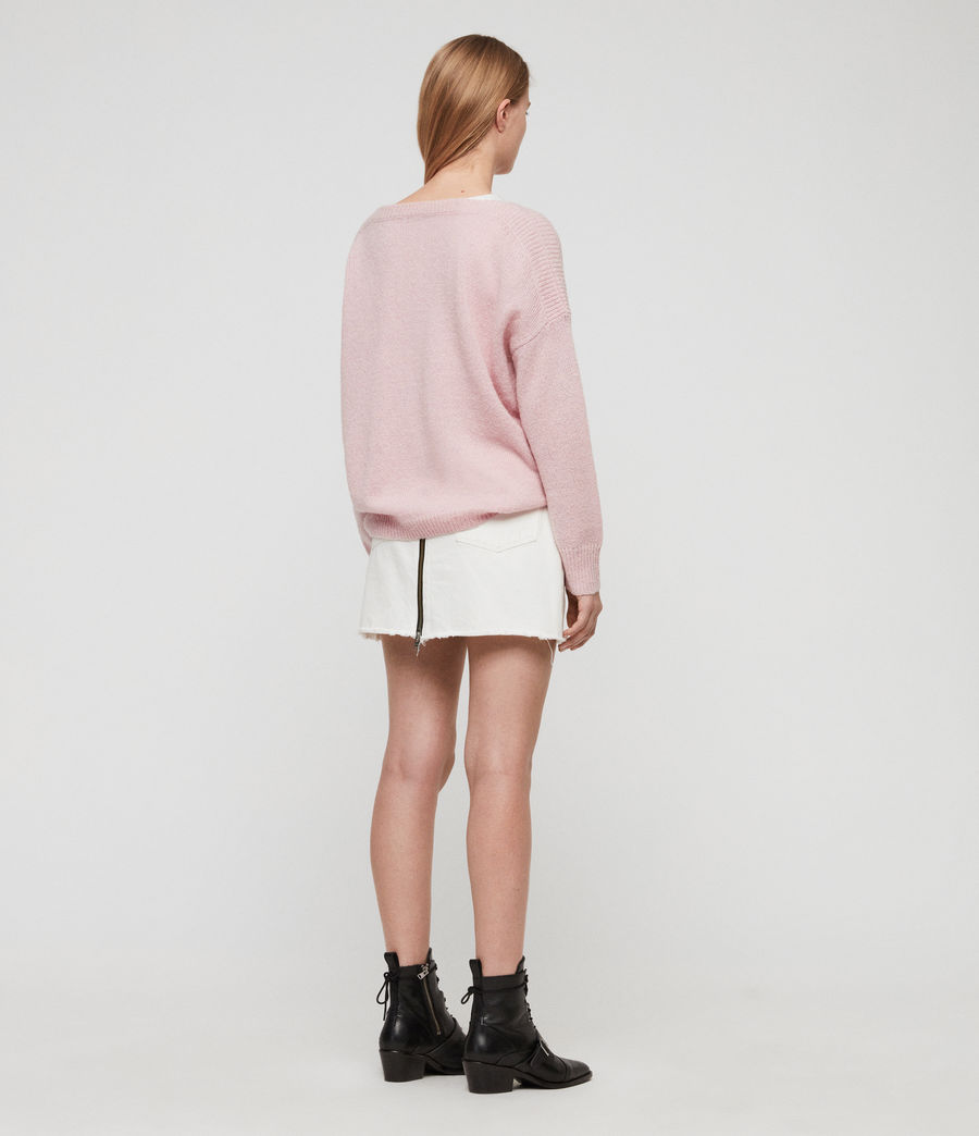 Womens Aris Sweater (baby_pink) - Image 4