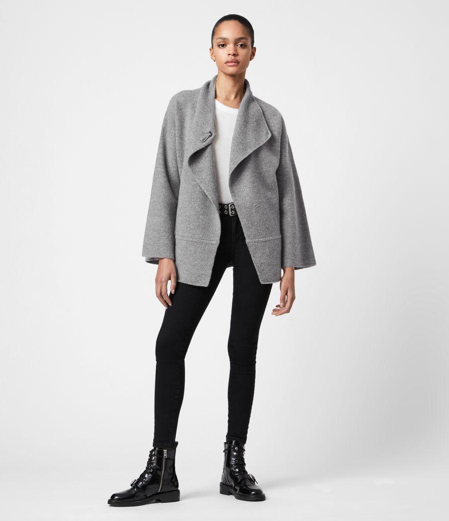 Women's Nola Merino Wool Cardigan (grey_marl) - Image 4