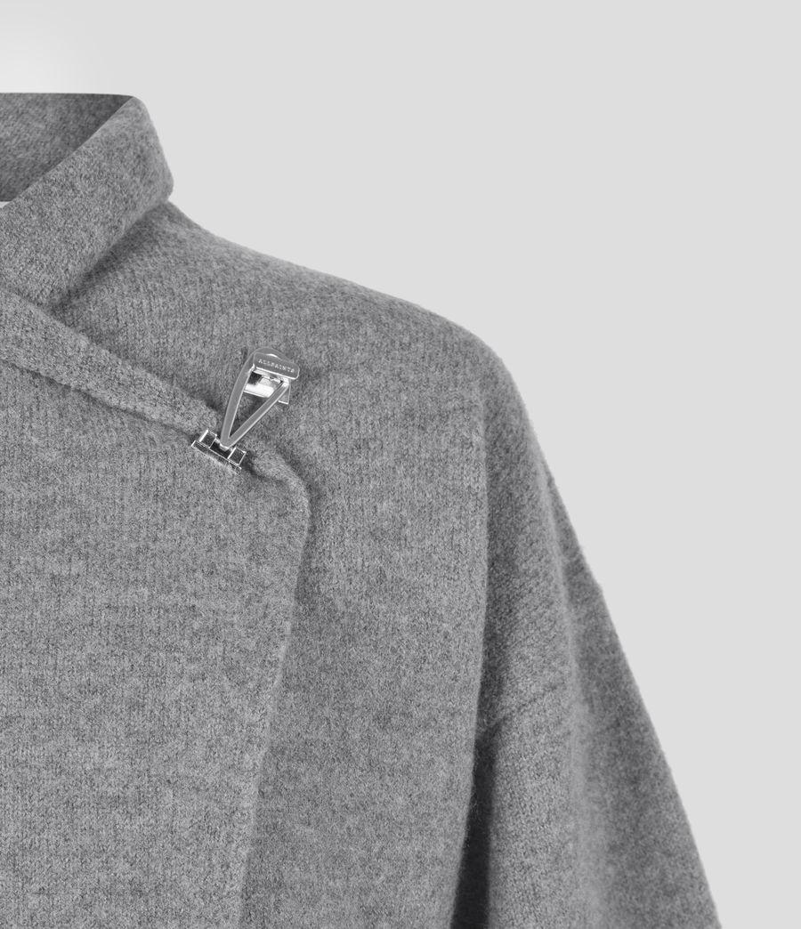 Women's Nola Merino Wool Cardigan (grey_marl) - Image 5