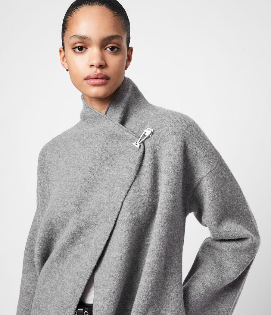 Women's Nola Merino Wool Cardigan (grey_marl) - Image 6
