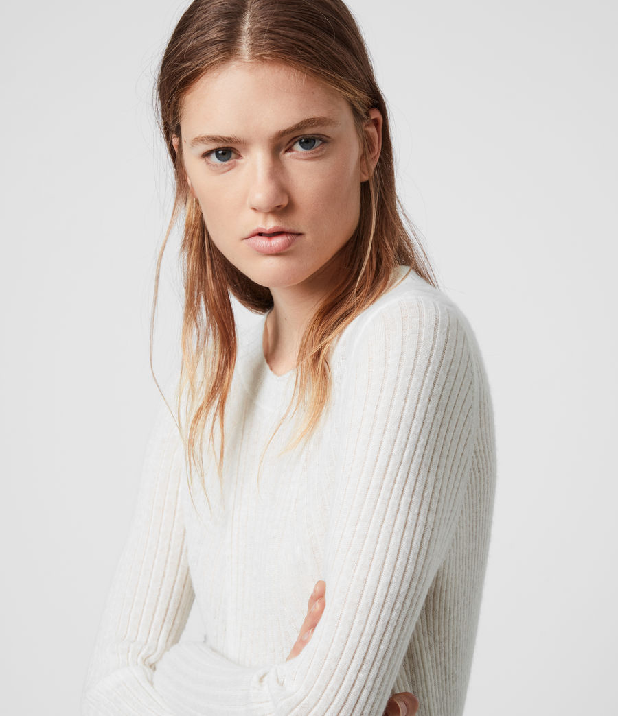Womens Addie Crew Sweater (chalk_white) - Image 2