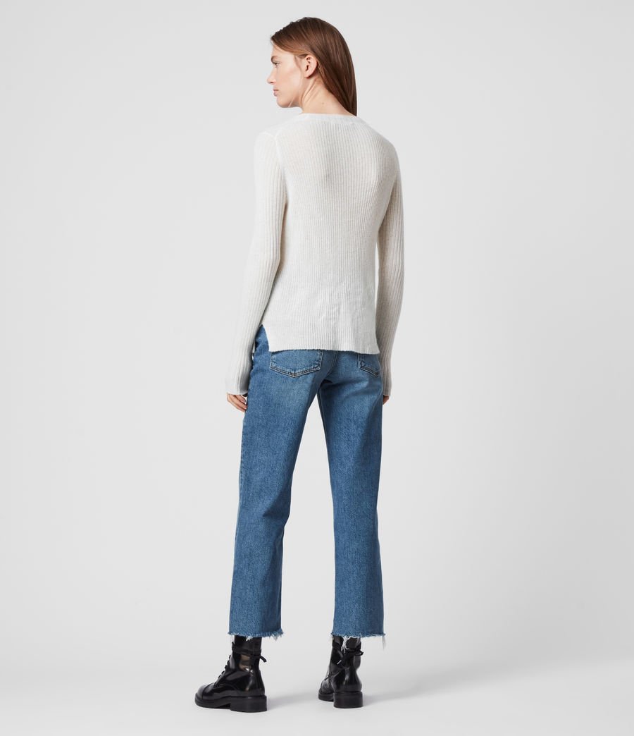 Womens Addie Crew Sweater (chalk_white) - Image 5