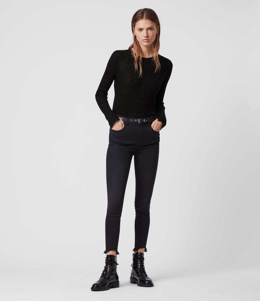Women's Addie Crew Jumper (black) - Image 3