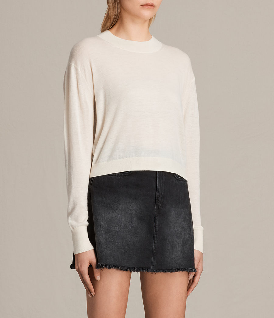 Damen Lotus Cropped-Kaschmirpullover (lemon_yellow) - Image 2