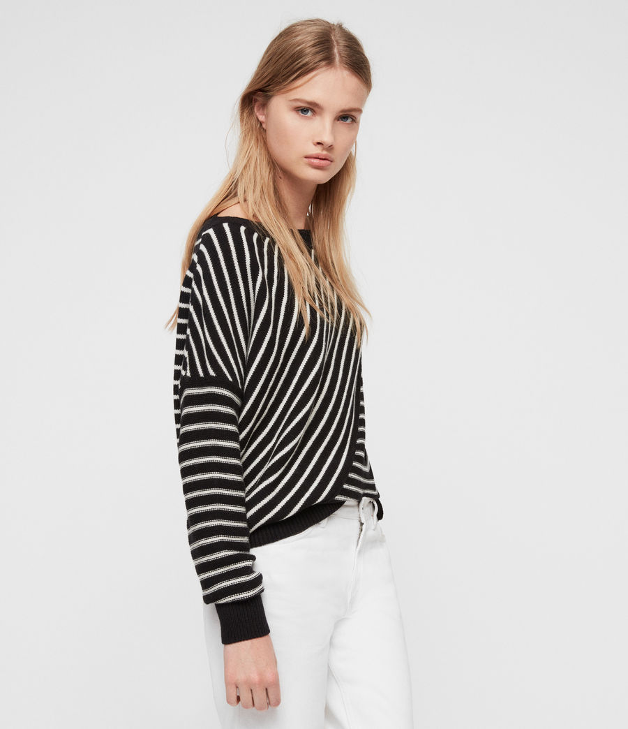 Damen Vani Pullover (black_chalk_white) - Image 1