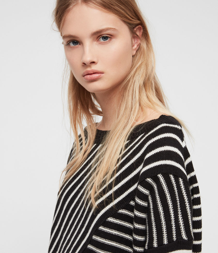 Damen Vani Pullover (black_chalk_white) - Image 2