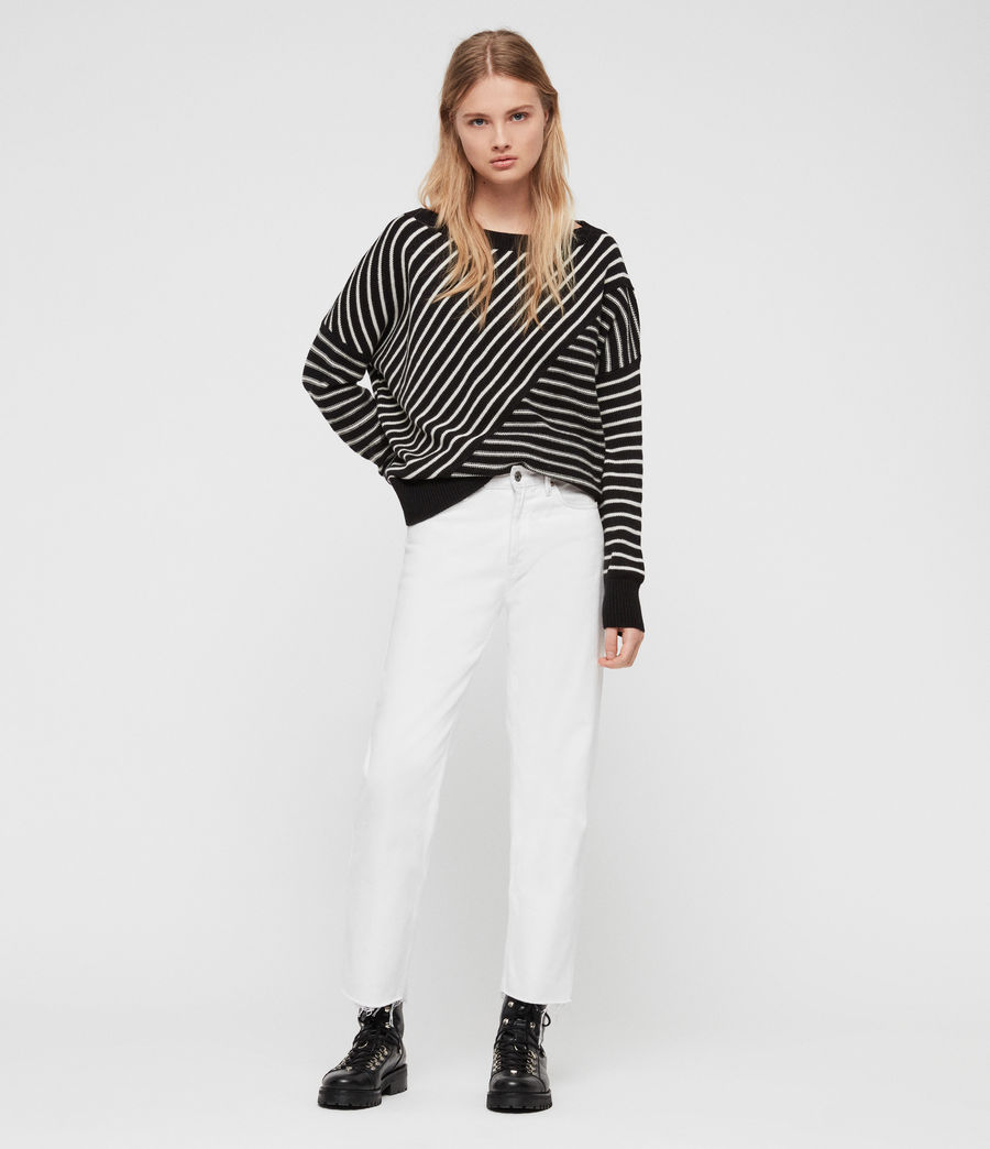 Damen Vani Pullover (black_chalk_white) - Image 3