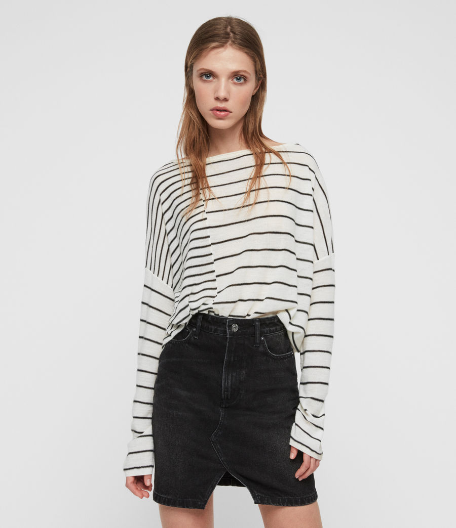 Donne Cali Jumper (chalk_white_black) - Image 1