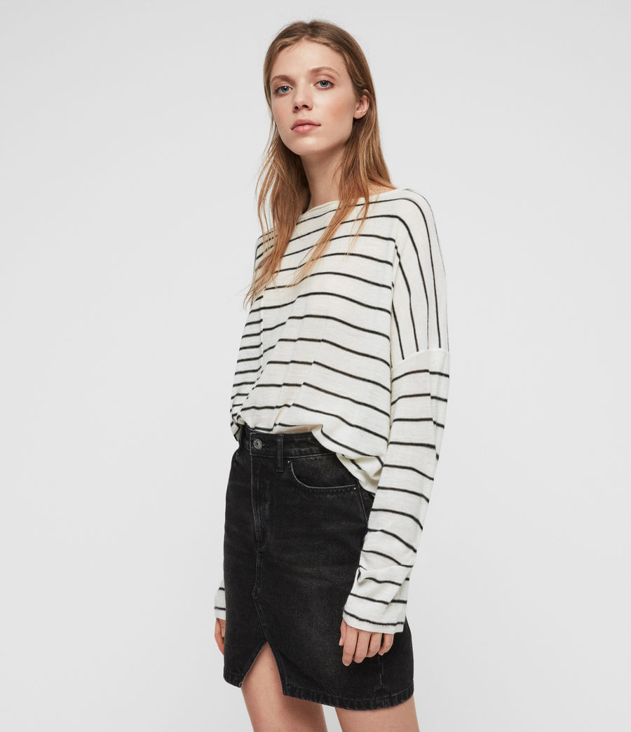 Donne Cali Jumper (chalk_white_black) - Image 2