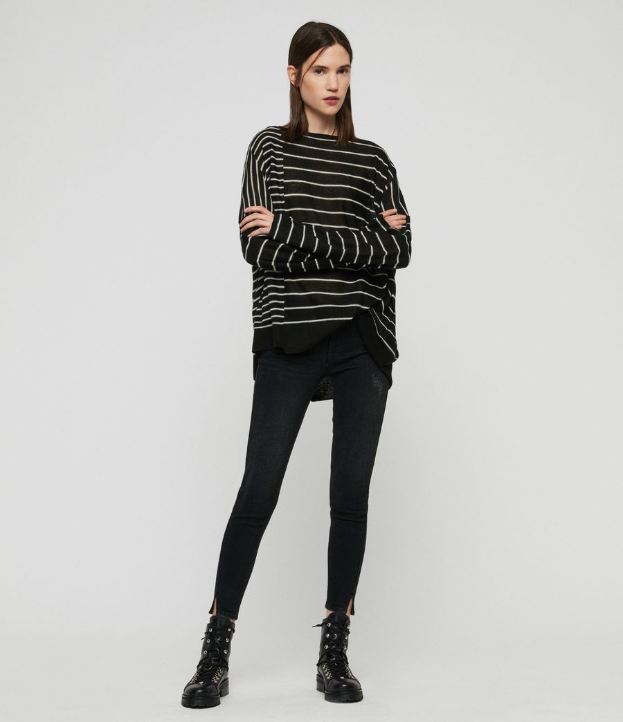 Mujer Suéter Cali (black_chalk_white) - Image 1
