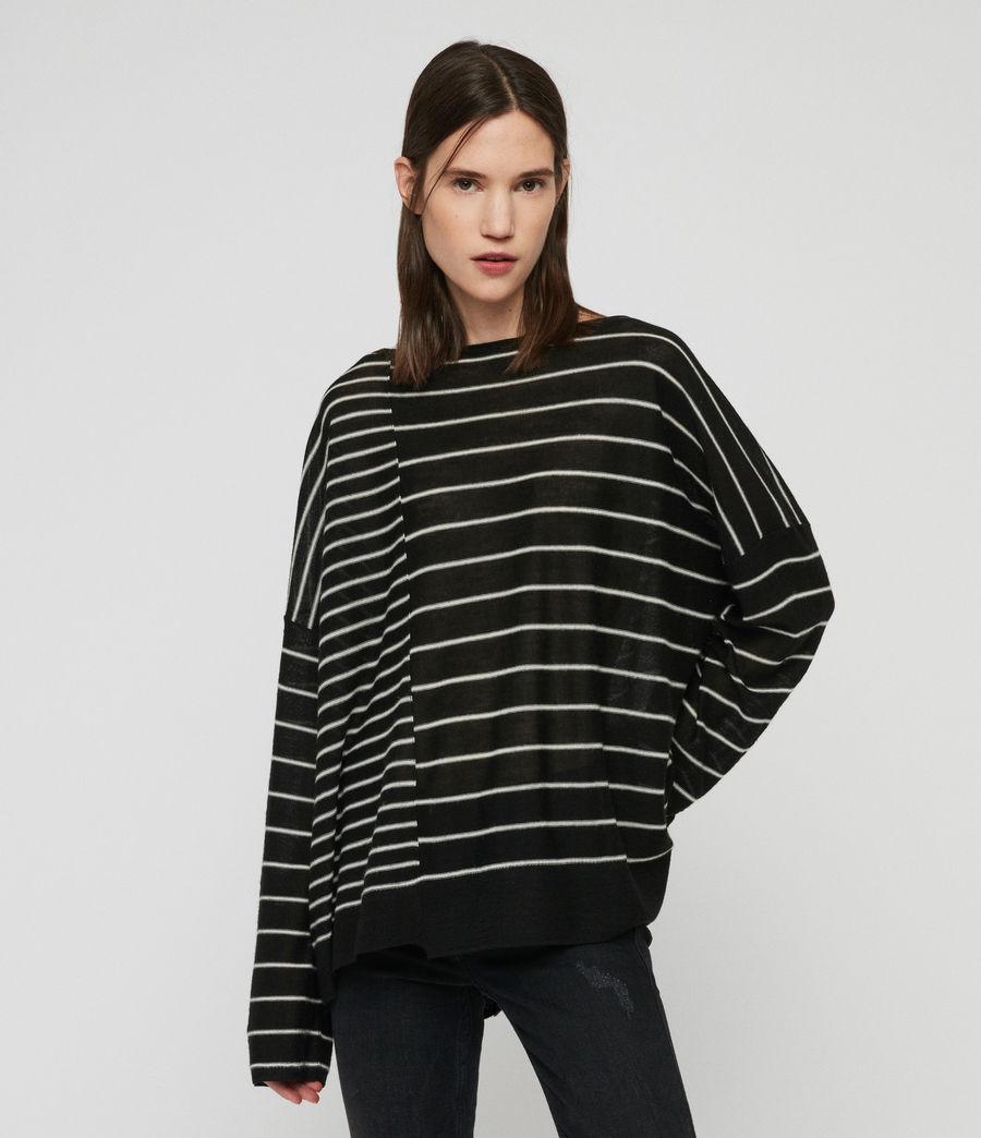 Mujer Suéter Cali (black_chalk_white) - Image 2