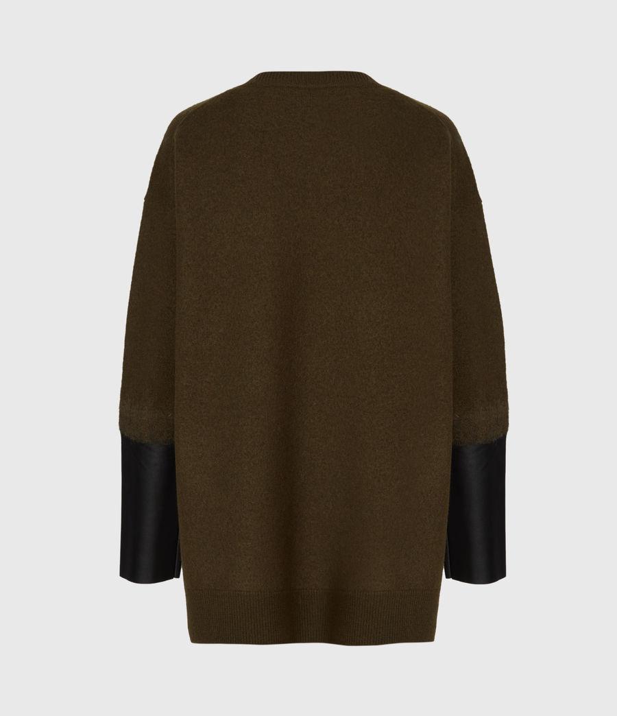 Womens Essy Merino Wool Sweater (khaki_green_black) - Image 3