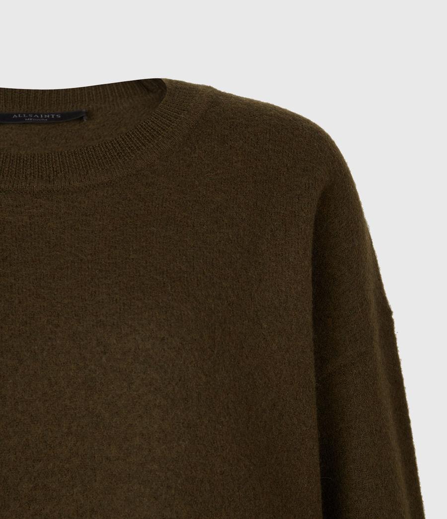 Womens Essy Merino Wool Sweater (khaki_green_black) - Image 4
