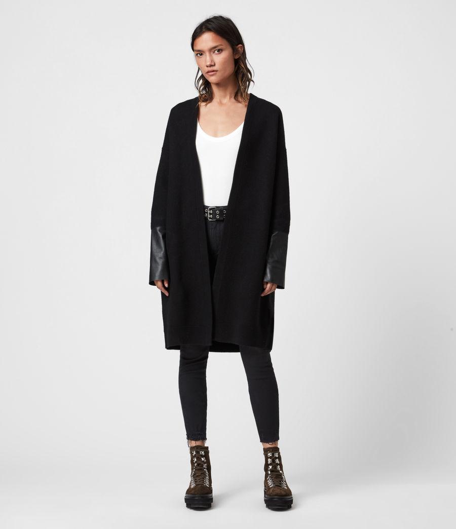 Womens Essy Merino Wool Cardigan (black) - Image 1