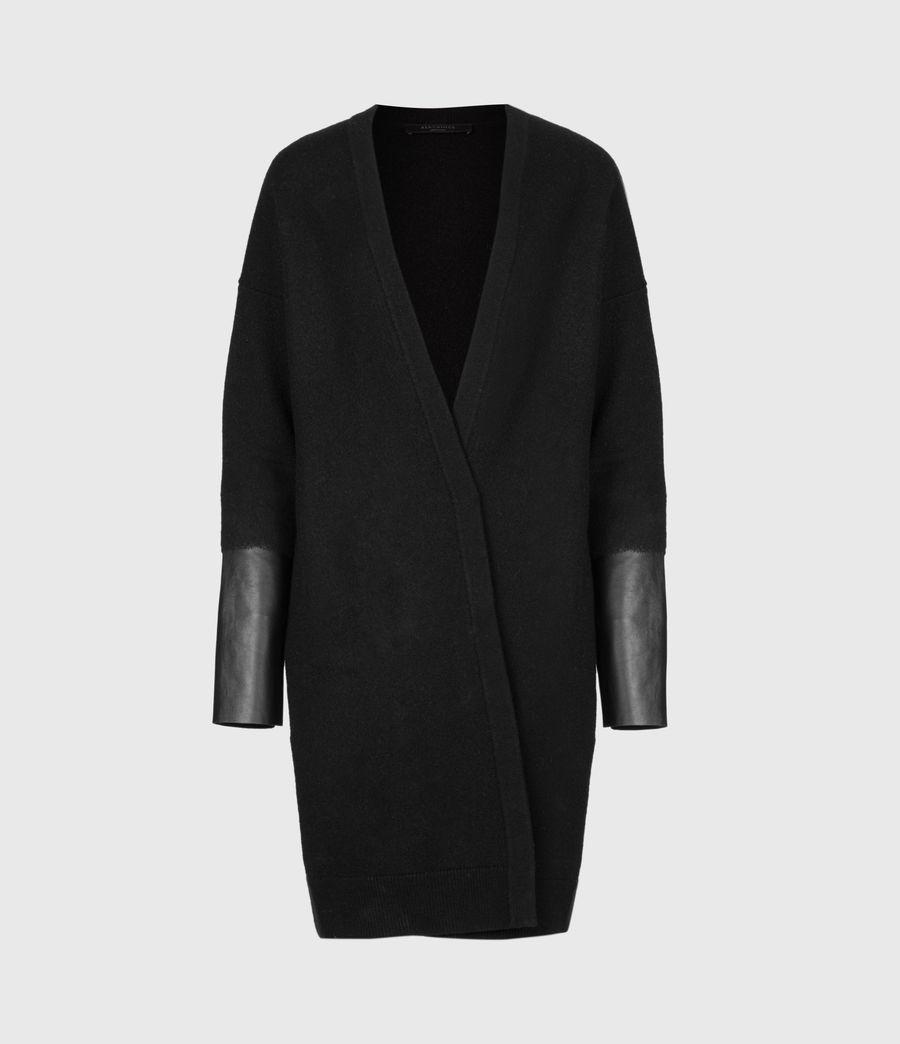 Womens Essy Merino Wool Cardigan (black) - Image 2