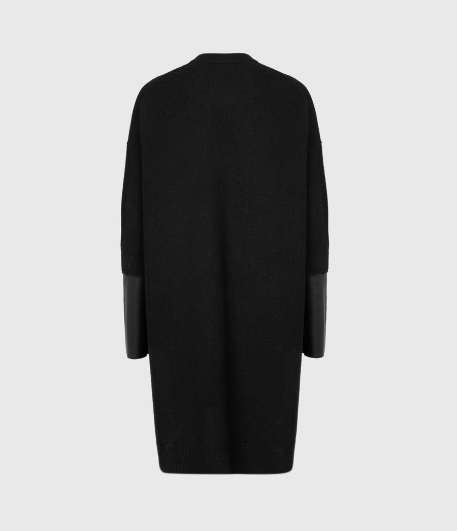 Womens Essy Merino Wool Cardigan (black) - Image 3