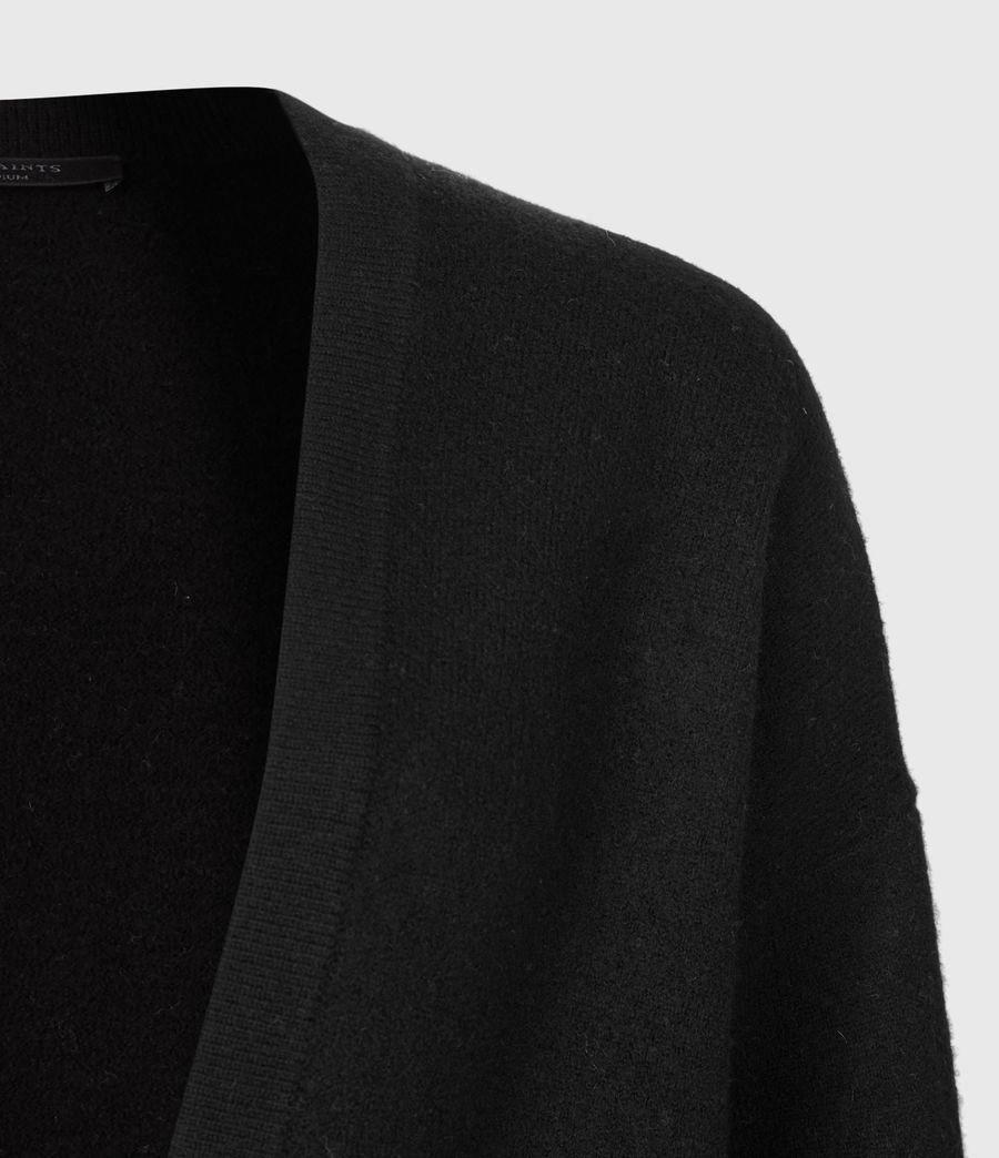 Womens Essy Merino Wool Cardigan (black) - Image 5