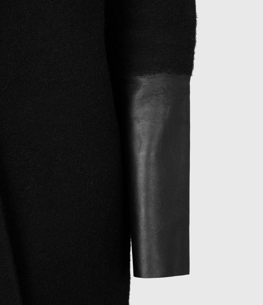 Womens Essy Merino Wool Cardigan (black) - Image 6
