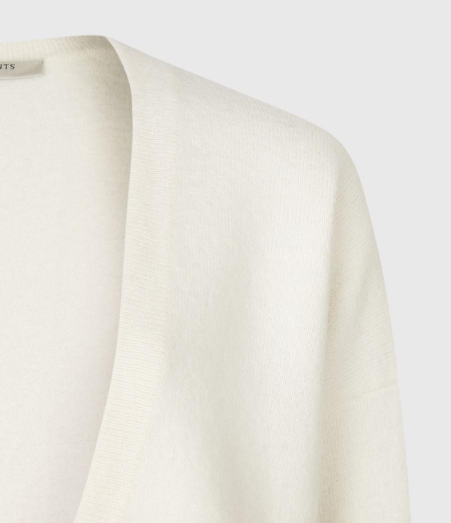 Mujer Essy Merino Wool Cardigan (chalk_white_cream) - Image 4