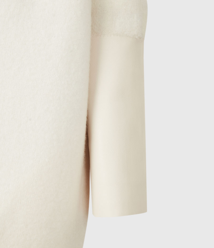 Mujer Essy Merino Wool Cardigan (chalk_white_cream) - Image 5