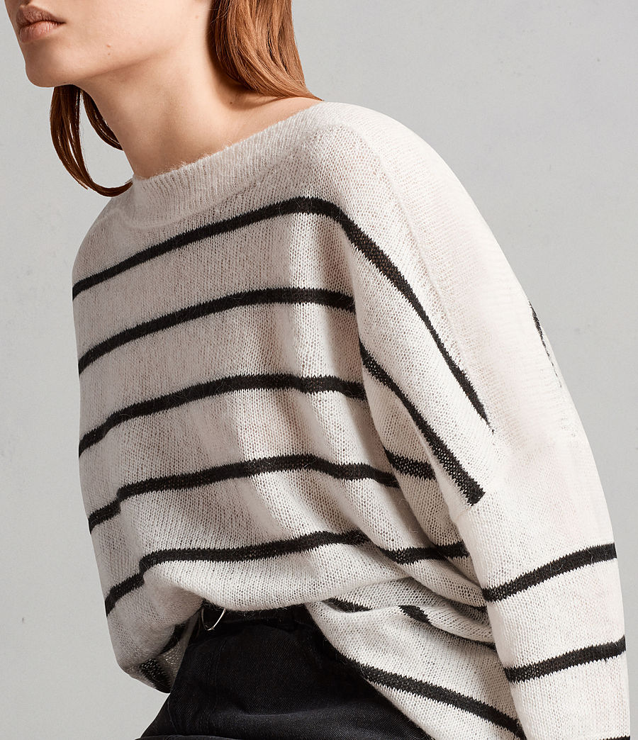 Women's Misty Crew Jumper (chalk_white_black) - Image 2