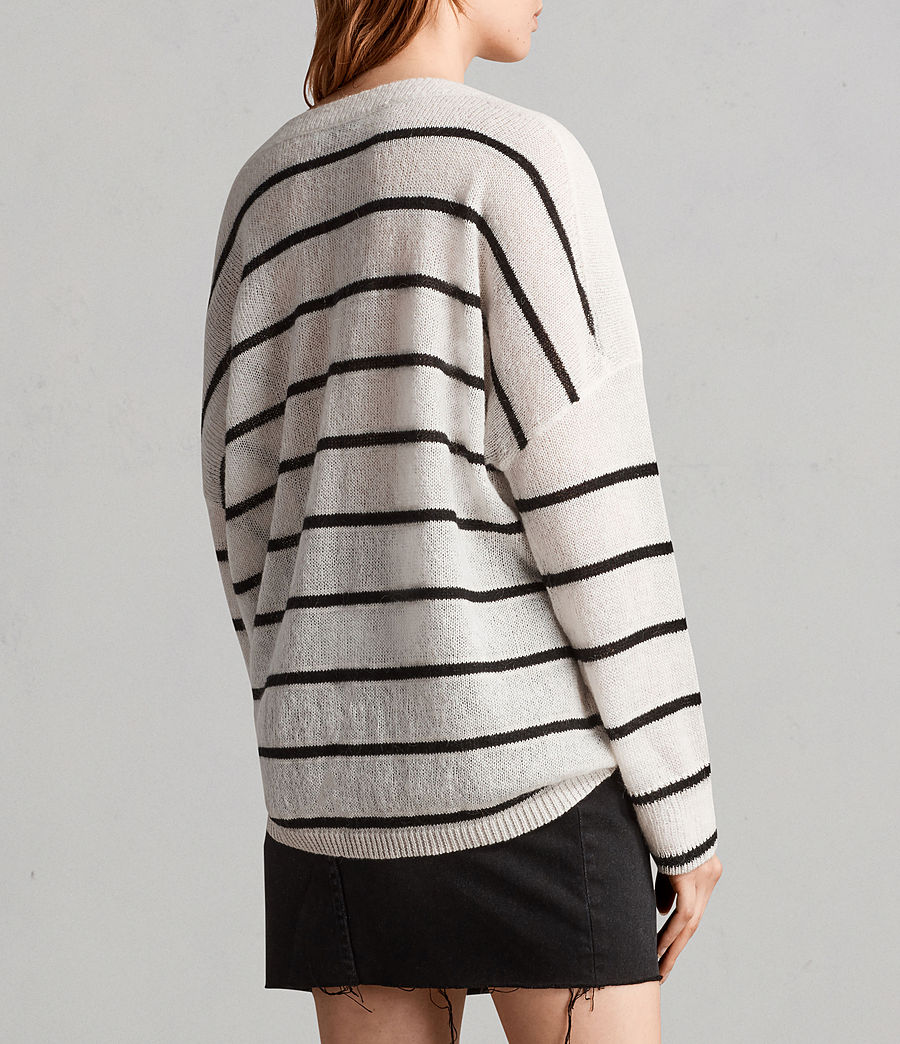 Women's Misty Crew Jumper (chalk_white_black) - Image 4