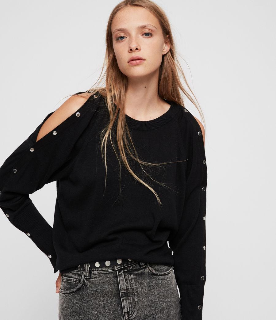 Womens Suzie Sweater (black) - Image 2