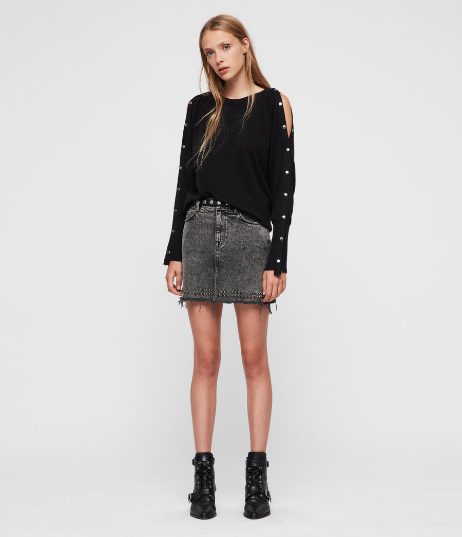 Womens Suzie Sweater (black) - Image 3