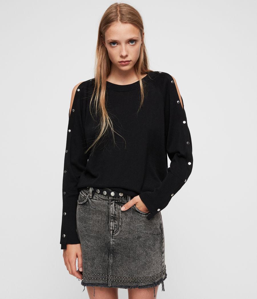 Womens Suzie Sweater (black) - Image 5