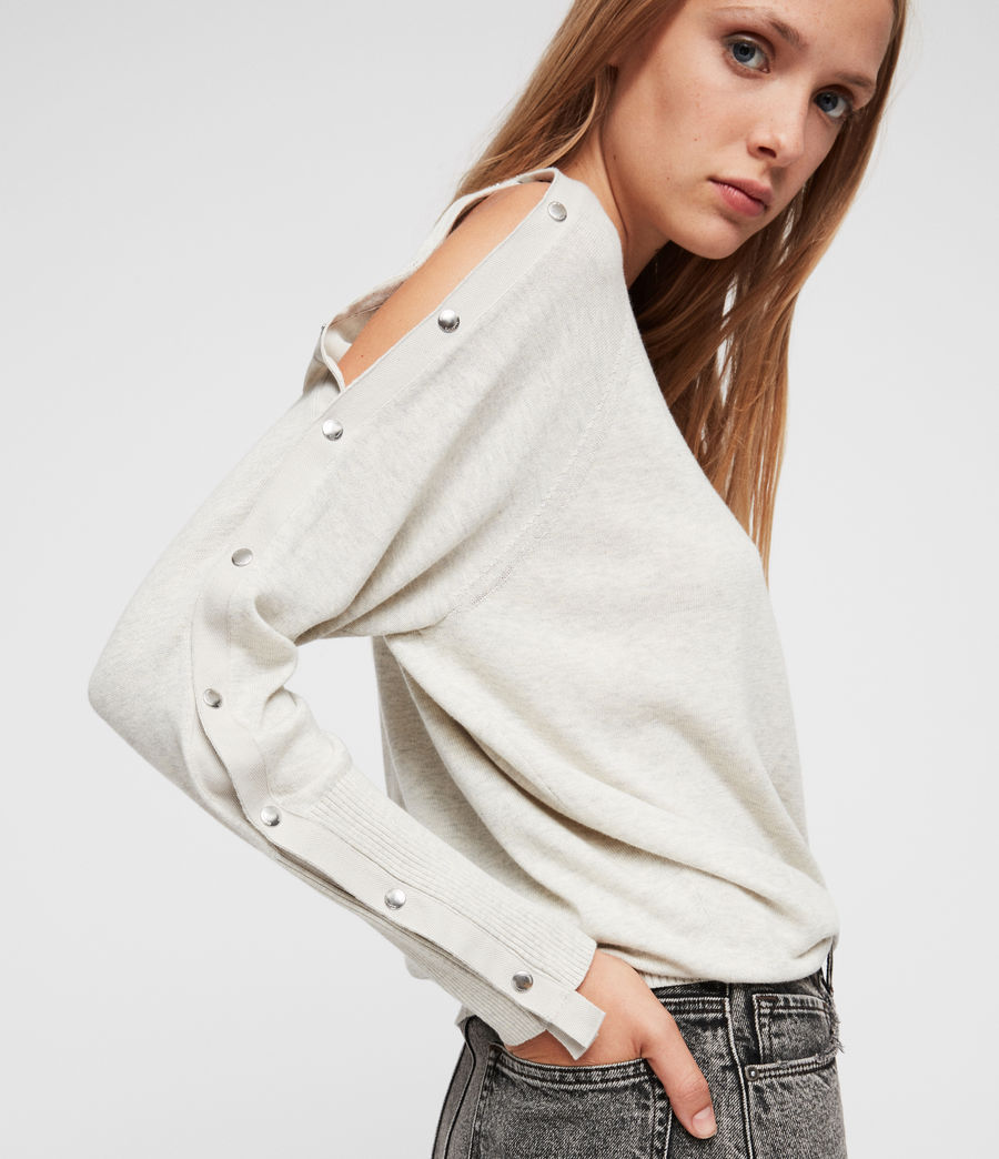 Womens Suzie Sweater (silver_grey) - Image 2