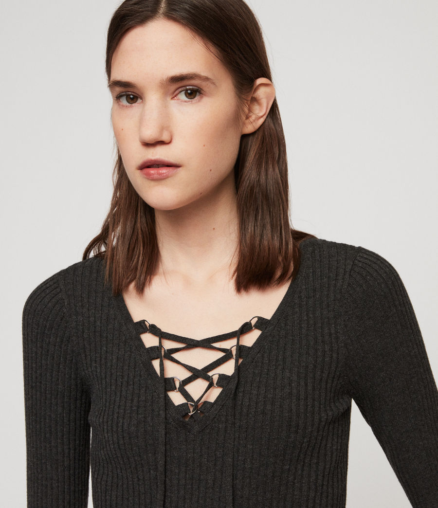 Women's Tamsin Jumper (charcoal_grey) - Image 2