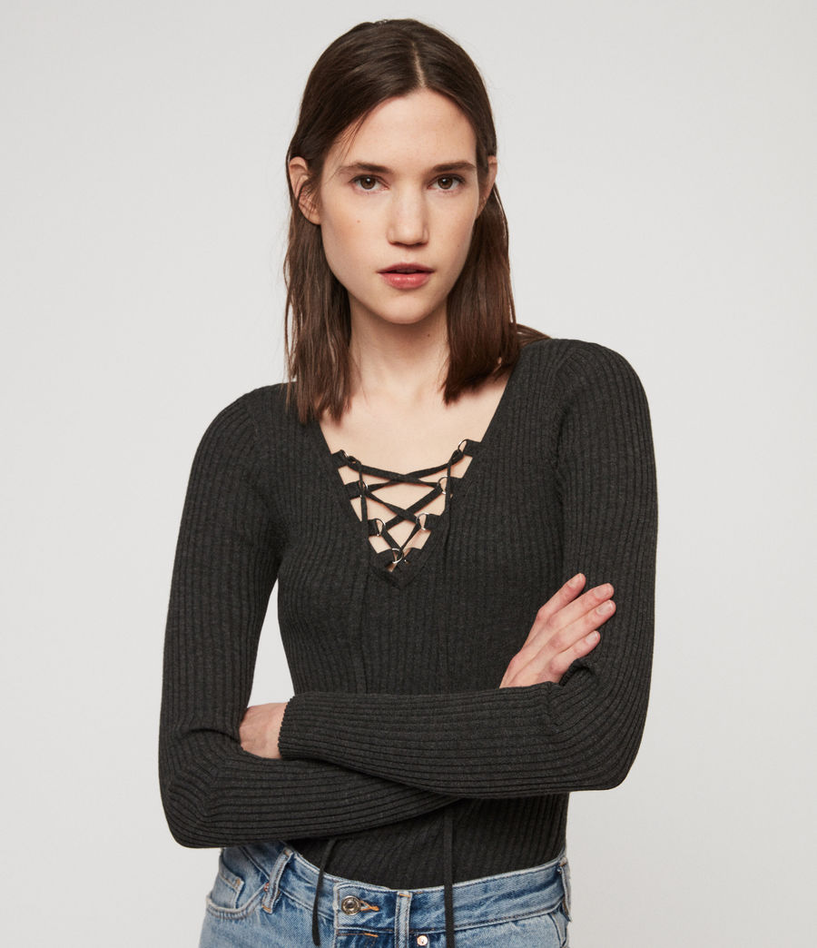 Women's Tamsin Jumper (charcoal_grey) - Image 3