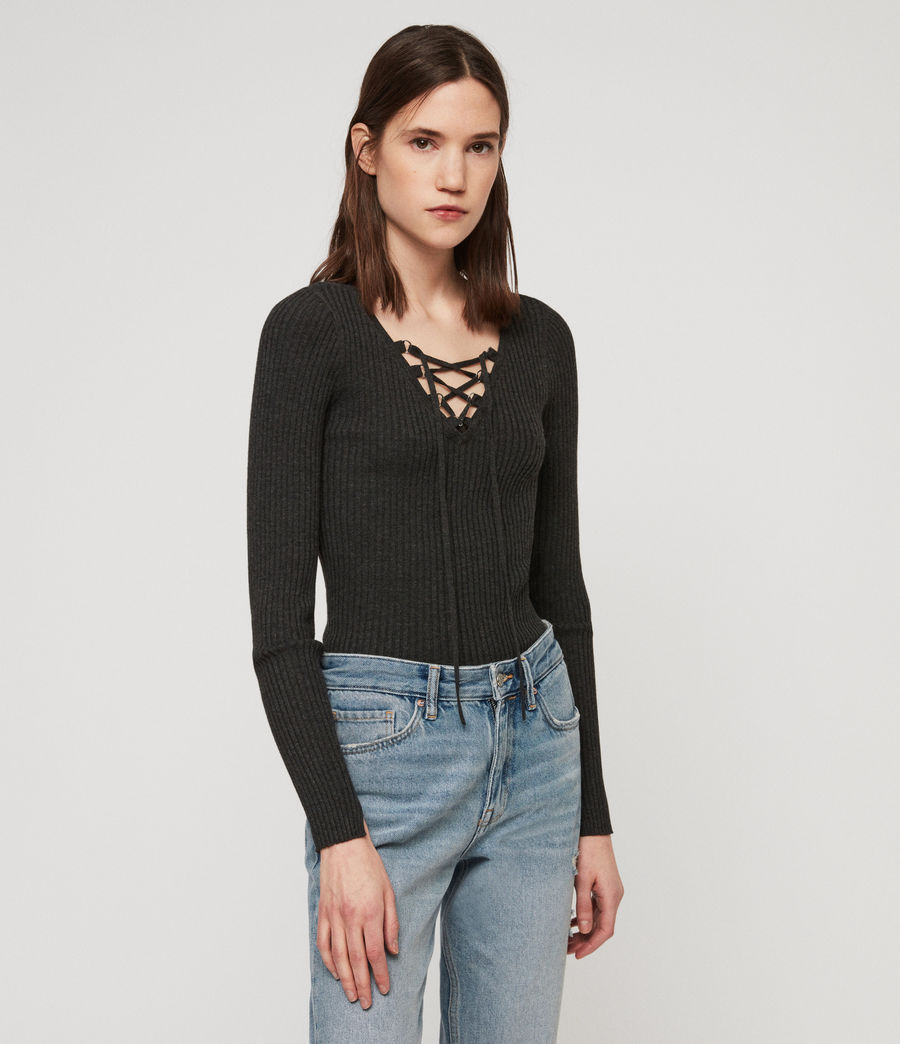 Women's Tamsin Jumper (charcoal_grey) - Image 4