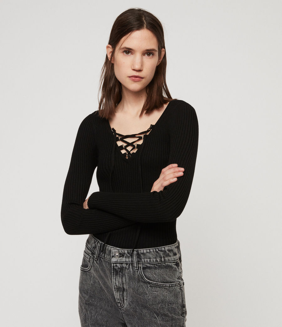 Womens Tamsin Sweater (black) - Image 1