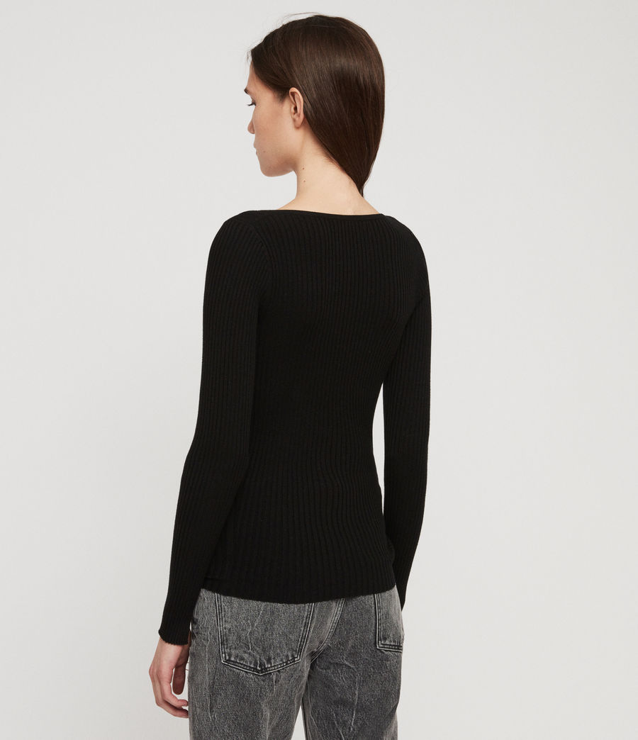 Womens Tamsin Sweater (black) - Image 4