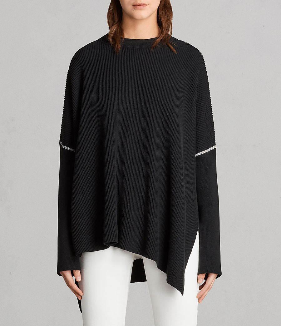 Damen Rohe Pullover (black) - Image 1