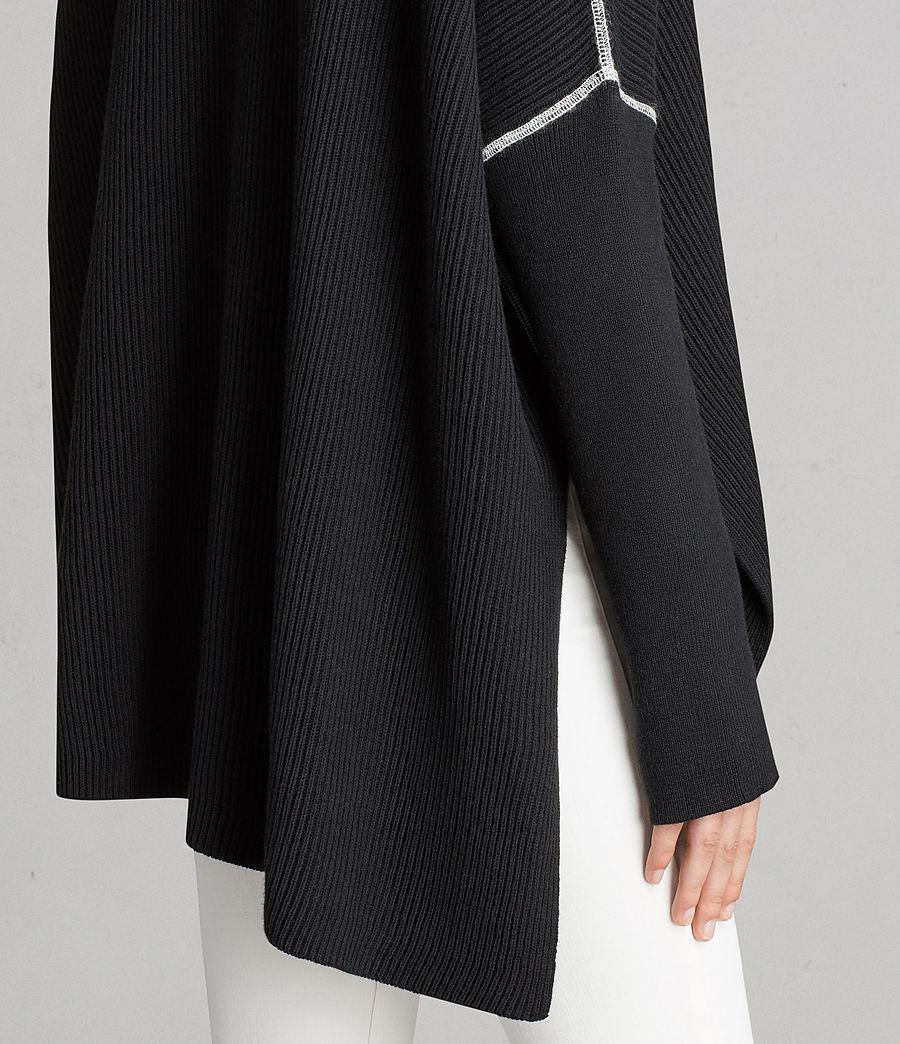 Damen Rohe Pullover (black) - Image 2