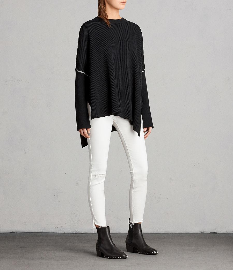 Damen Rohe Pullover (black) - Image 3