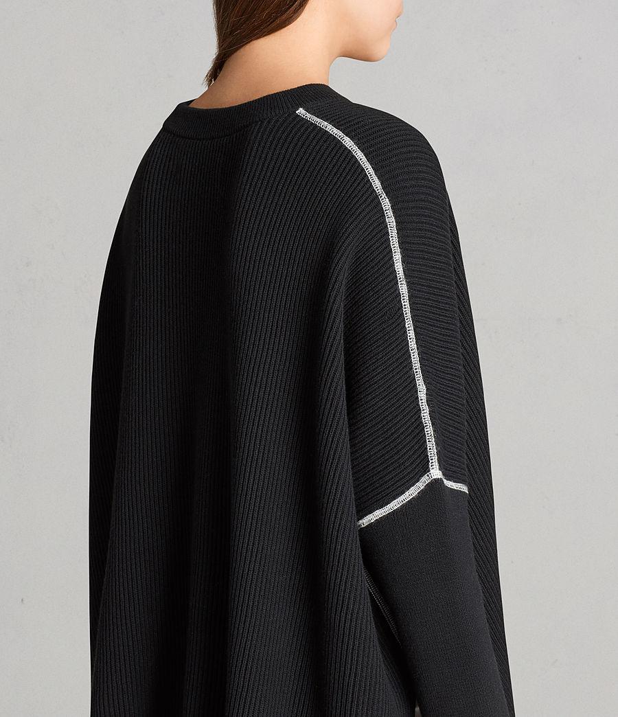 Damen Rohe Pullover (black) - Image 4